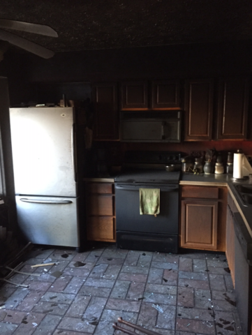 Modern Remodeling full rebuild of fire damaged townhome