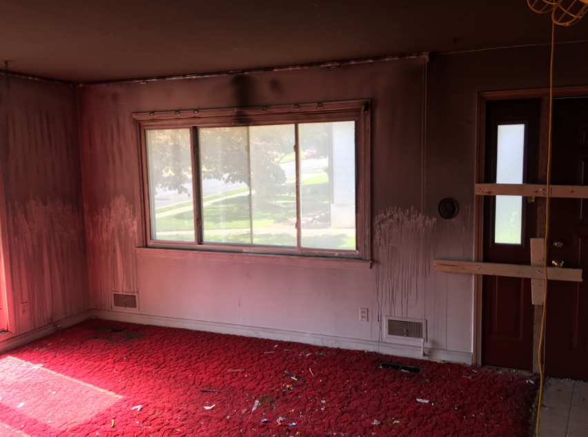 interior house fire damage modern remodeling maryland