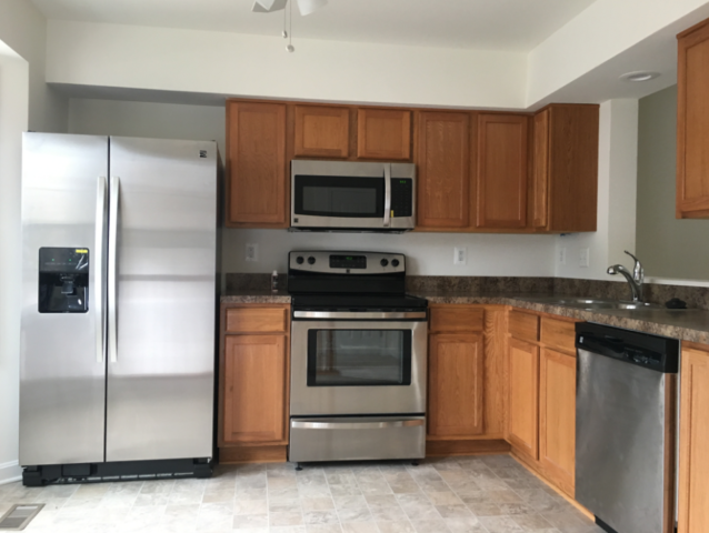 Modern Remodeling completed kitchen after house fire.