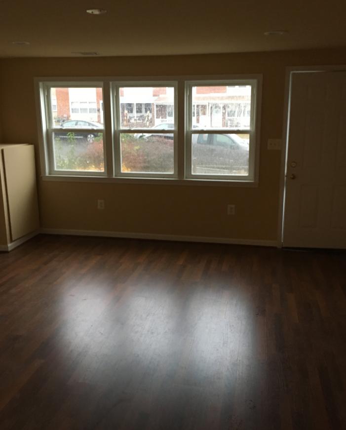 Living room rebuilt by Modern Remodeling after fire