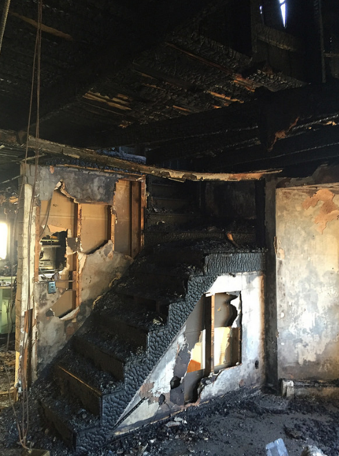 Modern fire rebuild Baltimore