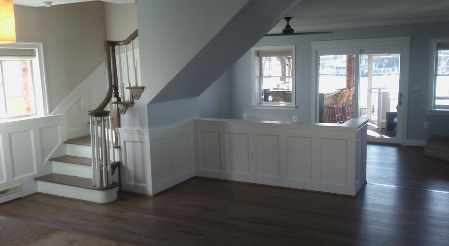 Custom molding work by Modern Remodeling