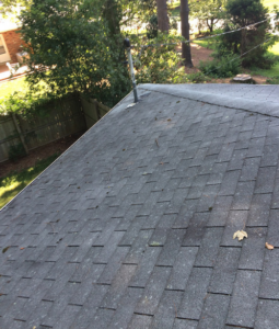 Damaged roof approved by insurance.