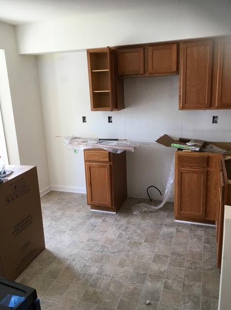 Modern Remodeling kitchen rebuild almost complete.